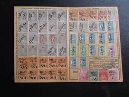 Fiscaux Socio-postaux Alsace Lorraine Elsass Lothringen 1940 1941 - STRASBOURG - Variétés De Position De Surcharge - Steuermarken