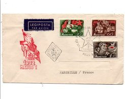 HONGRIE LETTRE FDC POUR LA FRANCE 1952 - Ungheria