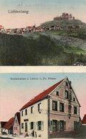 CPA - LICHTENBERG (67) - Aspect Du Restaurant Au Lion En 1913 - Carte Multi-vues - Autres Communes