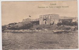 Tobruk Tobruch, Porto E Castello Saraceno, Libia, Spedita In Franchigia Militare - F.p. - Anni '1910 - Libia