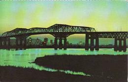 Canada > Quebec > Montreal, Champlain Bridge At Night, Used - Montreal