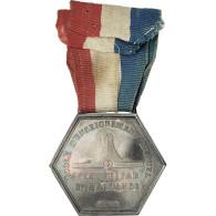 France, Ecole D'Enseignement Mutuel, Commune D'Orsay, Médaille, 1888, Excellent - Militares
