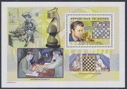 Guinée BF N° 292 Jeux D'echec Et Personnalité : Alexander Khalifman, Champion Du Monde 1999 Et 00, Le Bloc Sans Cha., TB - Guinea (1958-...)