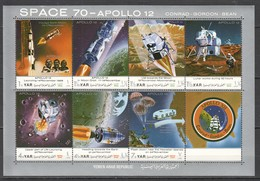 O659 YEMEN SPACE 70 APOLLO 12 CONRAD GORDON BEAN 1KB MNH - Raumfahrt