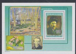 Guinée BF N° 294 Détail De Tableaux De Vincent Van Gogh : Autoportrait Au Chapeau, Le Bloc Sans Charnière, TB - Guinea (1958-...)