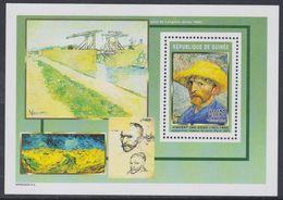 Guinée BF N° 295 Détail De Tableaux De Vincent Van Gogh : Autoportrait Au Chapeau De Paille, Le Bloc Sans Charnière, TB - Guinea (1958-...)