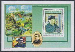 Guinée BF N° 296 Détail De Tableaux De Vincent Van Gogh : Autoportrait à L'oreille Coupée, Le Bloc Sans Charnière, TB - Guinea (1958-...)
