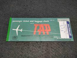 VINTAGE TICKET PORTUGAL TAP AIR LINES ALITALIA 1968 - Europa
