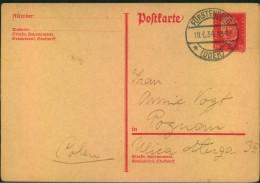 1934, 15 Pfg. Hindenburg Ganzsachenkarte Von FÜRSTENBERG (OEDER) Nach Poznan (polen). - Deutschland