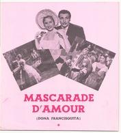 "Publicitaire "" Mascarade D'amour "" Avec Mirtha Legrand Et Armando Calvo - Merchandising"