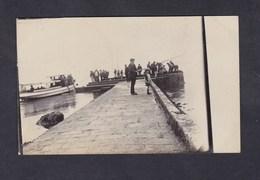 Carte Photo St Saint Malo Peche à La Ligne Vedette Bateau Vedettes Dinardaises Archives Baer - Saint Malo