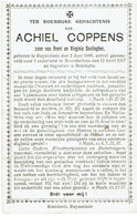 Doodsprentje COPPENS Achiel - Geboren RUISELEDE1888, Gesneuveld NOORDSCHOTE 1917 En Begraven Te RENINGE - 1914-18
