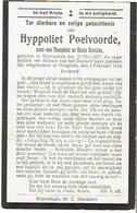 Doodsprentje POELVOORDE Hyppoliet - °RUISSELEDE Als Opgeeiste T.d.v. Duits Leger +HOOGLEDE 1918 - 1914-18