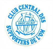 AUTOCOLLANT FOOT FOOTBALL  OM OLYMPIQUE DE MARSEILLE LOGO CCS CLUB CENTRAL DES SUPPORTERS 10 CMS - Football