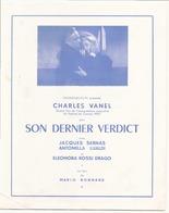 """Publicitaire """" Son Dernier Verdict """" Avec Charles Vanel - Cinema Advertisement"""