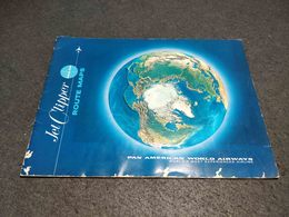 'RARE VINTAGE PAN AM JET CLIPPER ROUTE MAPS BOOKLET MADE IN USA - Maps