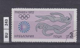 BULGARIA  1972Olimpiadi Di Monaco  3 St Usato - Gebraucht