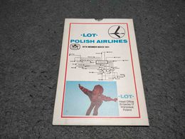 RARE VINTAGE LOT POLISH AIRLINES ROUTE MAP WITH MOVEMENT POLAND 1:400 000 - Maps