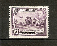 BRITISH GUIANA 1938 $1 SG 317 LIGHTLY MOUNTED MINT  Cat £28 - British Guiana (...-1966)