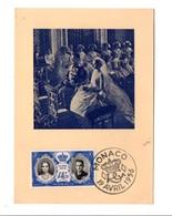 MONACO CARTE MAXIMUM 1956 MARIAGE PRINCIER - Mónaco