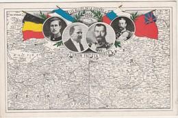 Carte à La Gloire Des Alliés Guerre 1914 / L'Union Fait La Force / Carte De France / Edition Dayan Genève Suisse - 1914-18