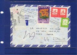 ##(DAN187/1)- POSTAL HISTORY- URUGUAY 1991 - Registered Air Mail Cover From Maldonado To Roma-Italy - Taxed - Uruguay