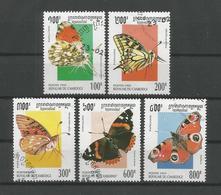 Cambodja 1995 Butterflies  Y.T. 1242/1246 (0) - Butterflies
