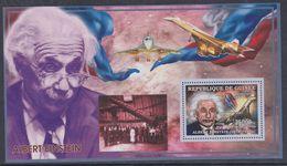 Guinée BF N° 321 XX Personnalité : Albert Einstein : Portrait, Télescope Spatial Et Concorde, Le Bloc Sans Charnière, TB - Guinea (1958-...)