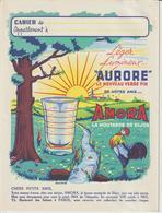 """Protège-Cahier -- AMORA . La Moutarde De Dijon - """"AURORE"""" Léger, Lumineux, Le Nouveau Verre Fin - Voir Les 4 Scannes - Mostard"""