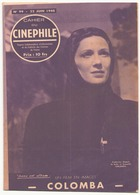 """Cahier Du Cinéphile N° 99 Juin 1948 """" Colomba """" - Magazines"""
