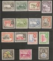 BRITISH GUIANA 1954 - 1963 SET SG 331/345 UNMOUNTED MINT/LIGHTLY MOUNTED MINT Cat £110 - British Guiana (...-1966)