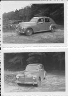 PEUGEOT 203 - Lot De 2 Photographies - Toit Ouvrant - Vers 1950 - Photographie - Automobile - A Voir ! - Cars