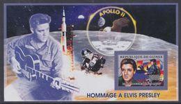 Guinée BF N° 324 XX Personnalité : Elvis Presley : Portrait Dont Un Avec Blouson Noir, Le Bloc Sans Charnière, TB - Guinea (1958-...)
