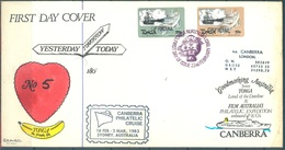 TONGA - FDC - 22.2.1983 - DON EZARD SIGNED ONLY 167 ENVELOPES  - Yv SERVICE 51-52 - Lot 17521 - SEE THE SCANS - RARE !! - Tonga (1970-...)