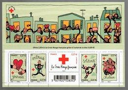 France 2012 Générosité Entraide Solidarité Chaleur (Pénélope Bagieu) [La Croix Rouge] - Sheetlets