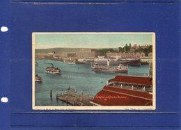 ##(DAN187/1)-  SYDNEY - Circular Quay - A Busy Part Of Sydney  - Used 1921 To Christchurch New Zealand - Sydney