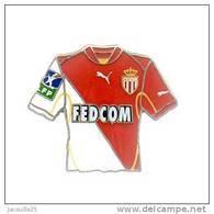 PINS PIN'S FOOT FOOTBALL  ASM MONACO BLASON MAILLOT FEDCOM  EGF - Football