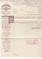 1914 PETROLEUM, OIL, ALCOHOL, COFFEE Merchant KUFSTEIN  DOCUMENT Revenue Stamps Austria,  Energy , Drink - Oil