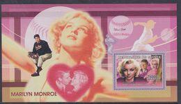 Guinée BF N° 327 XX Personnalité : Marilyn Monroe: Portrait En Blouse Rose Et Portrait De Kennedy, Le Bloc Ss Ch., TB - Guinea (1958-...)