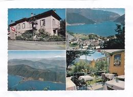 (CPSM 15 X 10,5)  -  PENSIONE  BRANDER  - Melide  Lago Di Lugano - TI Tessin