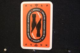 Playing Cards/Carte A Jouer/1 Dos De Cartes Avec Publicité/ Jenever-Brandewijn - Ginièvre, Schiedam. Eau De Vie - Brugge - Cartes à Jouer