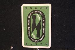 Playing Cards/Carte A Jouer/1 Dos De Cartes Avec Publicité/ Jenever-Brandewijn - Ginièvre, Schiedam. Eau De Vie - Brugge - Speelkaarten