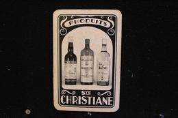 Playing Cards / Carte A Jouer / 1 Dos De Cartes Avec Publicité / Produits, Ste Christiane - Jenever- Ginièvre, - Cartes à Jouer