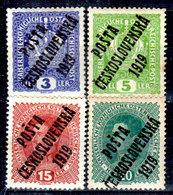 Cecoslovacchia-053 - Valori Del 1919 (+) Hinged - Senza Difetti Occulti. - Cecoslovacchia