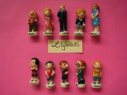 Série Complète De 10 Feves PERSO En Porcelaine - LE PETIT NICOLAS 2015 - LA MIE CALINE ( Feve Miniature Figurine ) - Personnages