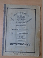 DC30.6  Bank Depository Booklet -Mezőtúr Hungary  - Savings Bank  1937 - - Cheques & Traveler's Cheques