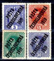Cecoslovacchia-054 - Valori Del 1919 (+) Hinged - Senza Difetti Occulti. - Cecoslovacchia