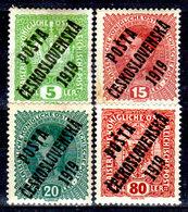 Cecoslovacchia-055 - Valori Del 1919 (+) Hinged - Senza Difetti Occulti. - Cecoslovacchia