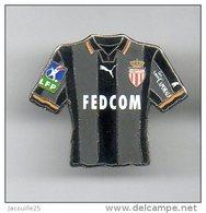 PINS PIN'S FOOT FOOTBALL  ASM MONACO BLASON MAILLOT FEDCOM CAPORALE  EGF - Football