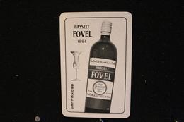 Playing Cards / Carte A Jouer / 1 Dos De Cartes Avec Publicité /  Hasselt Fovel, Spiritueux G & G .Fovel Bruxelles . - Cartes à Jouer